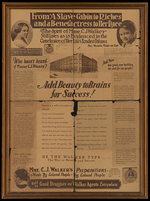 Image for Advertisement for Madam C. J. Walker products