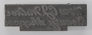 """Image for Printing plate for """"Mme C.J. Walker Beauty Shoppes"""""""