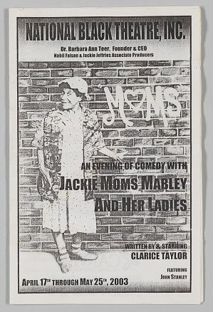 Image for Program for An Evening of Comedy with Jackie 'Moms' Mabley and Her Ladies