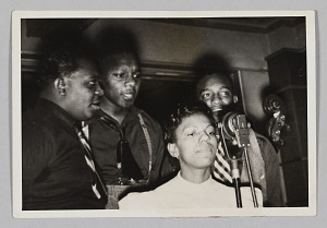 Image for Photograph of Ivie Anderson, Rex Stewart, Harry Carney, and Hayes Alvis