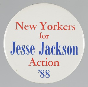 Image for Pinback button for Jesse Jackson's 1988 presidential campaign
