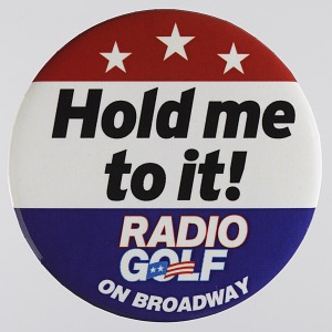 Image for Pinback buttons for the play Radio Golf