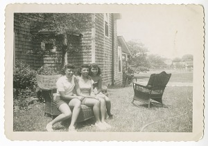Image for Digital image of family members at the Taylor family home on Martha's Vineyard