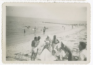 Image for Digital image of Taylor family members at the beach on Martha's Vineyard