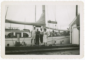Image for Digital image of Taylor family members in front of a boat on Martha's Vineyard