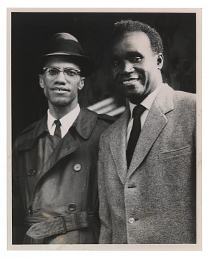 Image for Photograph of Malcolm X and Kenneth Kaunda