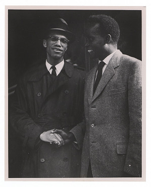 Image for Photograph of Malcolm X and Kenneth Kaunda shaking hands