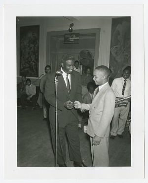 Image for Photographic print of Jackie Robinson and Harry Owens