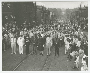 Image for Photographic print of Annual Elks parade in Pittsburgh
