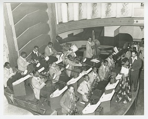Image for Photograph of Billy Eckstine conducting his band