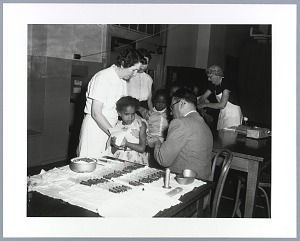 Image for Photographic print of children receiving shots