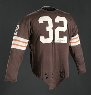 Image for Jersey for the Cleveland Browns worn and signed by Jim Brown