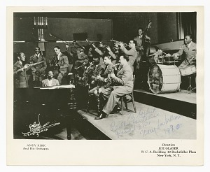 Image for Photograph of Mary Lou Williams playing piano with Andy Kirk and his orchestra