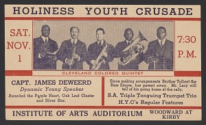 Image for Advertisement card for the Holiness Youth Crusade in Detroit, Michigan