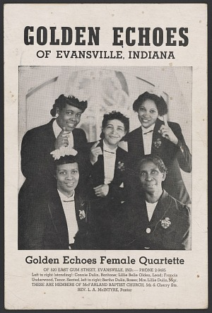 Image for Advertisement card for the Golden Echoes singing group