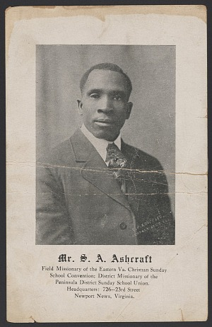 Image for Advertisement card for S. A. Ashcraft