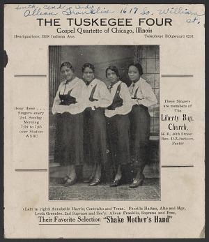 Image for Advertisement card for the Tuskegee Four
