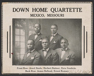 Image for Advertisement card for the Down Home Quartette