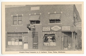 Image for Peoples Drug Company, A. J. Latimer, Prop., Tulsa, Oklahoma