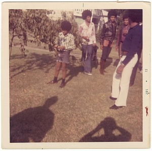 Image for Chromogenic print of The Jackson 5 standing in a yard
