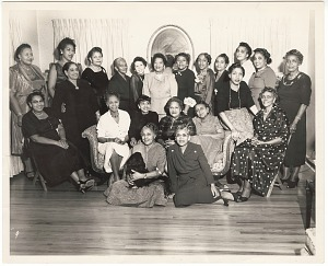 Image for Photographic print of a group of women posing in rows