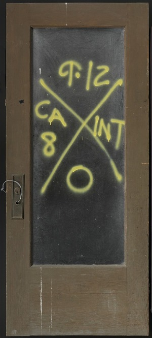 Image for Door with rescue markings from Hurricane Katrina