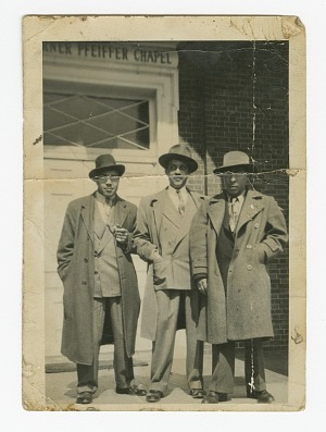 Image for Photograph of Waldo C. Falkener, Sr. and two unidentified men at Bennett College