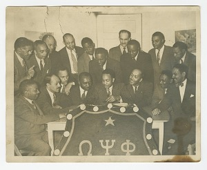 Image for Photograph of the Tau Omega Chapter of Omega Psi Phi Fraternity
