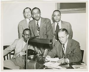 Image for Photograph of Gilbert DeLorme, Sr. and associates at Atlanta Life Insurance Co.