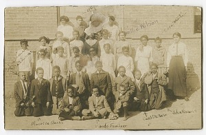 Image for Photograph of schoolchildren and teachers