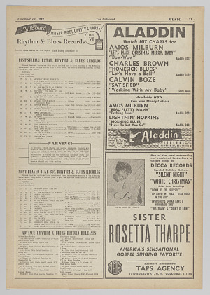 Image for Advertisement for a Sister Rosetta Tharpe record