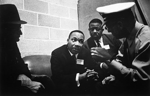 Image for Dr. Martin Luther King, Jr., in Discussion with Police after Assault, SCLC Convention