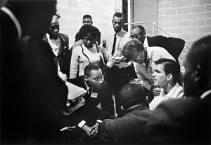 Image for Dr. Martin Luther King, Jr., in Discussion with His Attacker, SCLC Convention