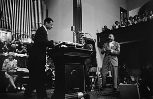Image for Rev. C.T. Vivian Approaching the Lectern at Sixteenth Street Baptist Church