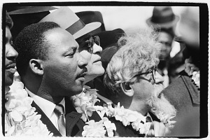 Image for Rev. Ralph Abernathy, Dr. Martin Luther King, Jr., Dr. Ralph Bunche, and Rabbi Abraham Heschel, Selma and Montgomery March