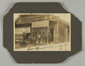 Image for Photograph of B.C. Franklin and unidentified men in Ardmore, Oklahoma