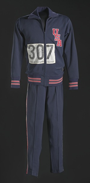 Image for 1968 Olympic warm-up suit jacket worn by Tommie Smith