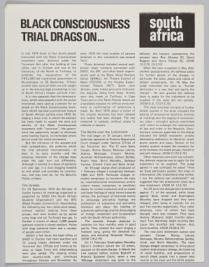 Image for Article page about the Black Consciousness Movement