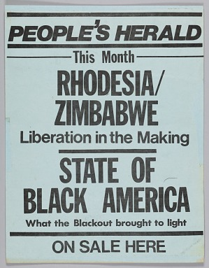 Image for Flyer advertising the September 1977 issue of The People's Herald