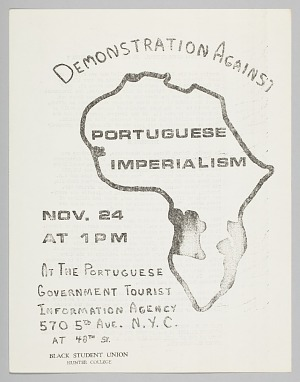 Image for Flyer for demonstration against Portuguese imperialism in Africa