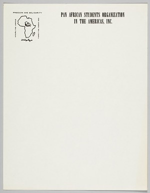 Image for Letterhead of the Pan African Students Organization in the Americas, Inc.