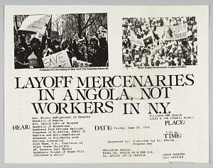 Image for Flyer announcing an event in support of black workers