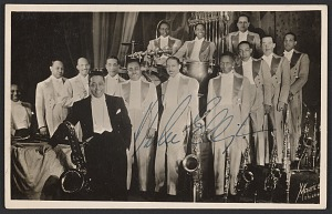 Image for Postcard of Duke Ellington and his Orchestra, with autograph