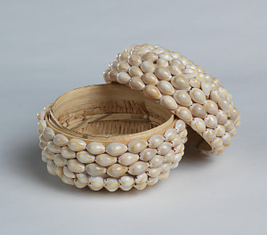 Image for Ceremonial basket adorned with cowrie shells