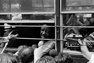Image for Digital image of Ralph Abernathy on a police bus
