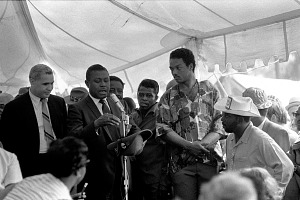 Image for Digital image of Jesse Jackson and James Brown in Resurrection City