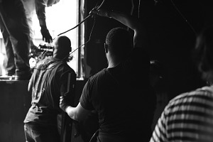 Image for Digital image of men handling exposed wires