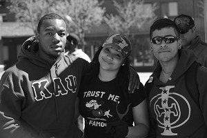 Image for Digital image of three protesters in Baltimore