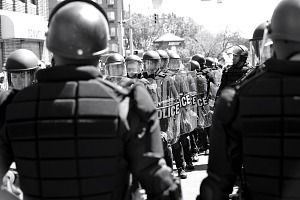 Image for Digital image of police officers in riot gear