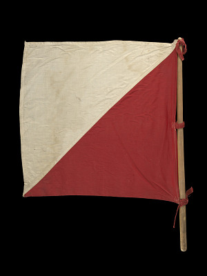Image for Signal flag with pole